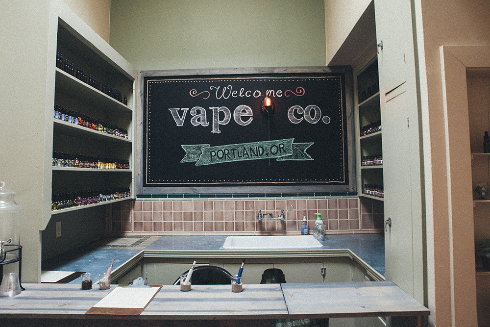 Including a selection of organic e-juices.